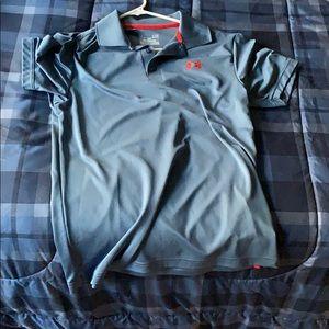 A men's small under armor polo shirt
